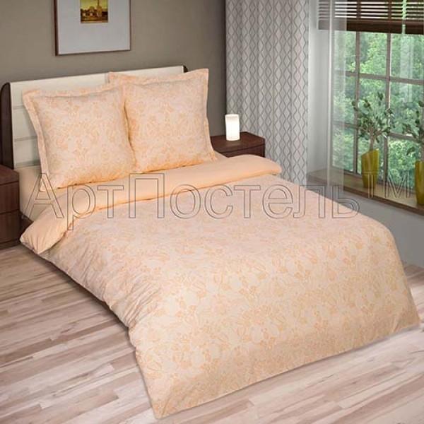 Белье постельное ГРАЦИЯ персик  поплин двухспальное