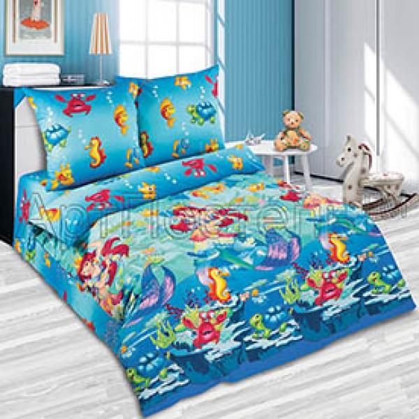 Белье постельное  Морская сказка  поплин хлопок  АртПостель   подростковое